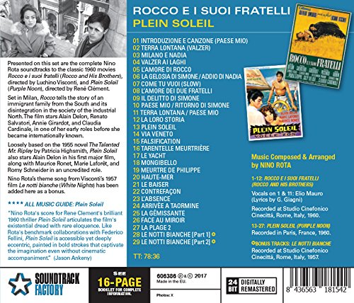 Rocco E I Suoi Fratelli (Rocco and His Brothers) / Plein Soleil (Purple Noon) (Original Soundtrack)