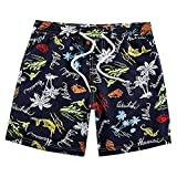 JezMax Baby Toddler Boys' Swim Trunk Summer Beach Board Shorts with Mesh Lining