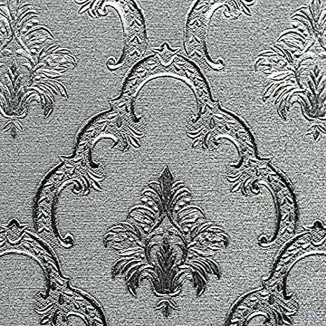 Glowvia Silver Wallpaper Design For Wall Silver Embossing Design Wallpaper For Home Office Living Room Hotel Cafe Size 57 Sqft