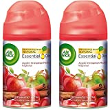 Air Wick Freshmatic Automatic Spray Air Freshener, Apple Cinnamon Medley Scent, 1 Refill, 6.17 Ounce (Pack of 2)