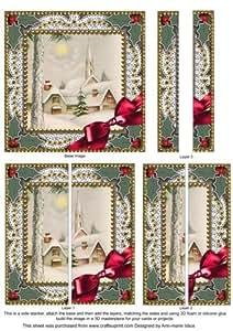 Invierno Pub de encaje 5cm cuadrado recto 2lado apiladora por Ann-Marie Vaux