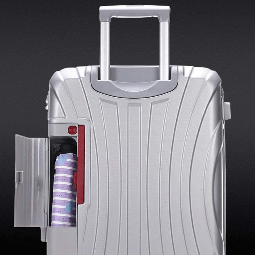 """HUANGDA ABS+PC Hard Shell Spinner Luggage Suitcase Travel Trolley Case Color : Silver, Size : 22 inches Super Lightweight Business Suitcase 26"""",Silver"""