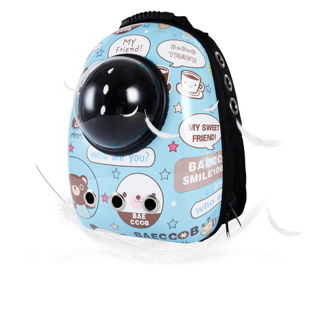 B7 FITIN Pet Rucksack Pet Space Backpack Travel Portable Pet Bag Breathable Cat Bag Puppy Backpack Pets Supplies Pet Dog Backpack