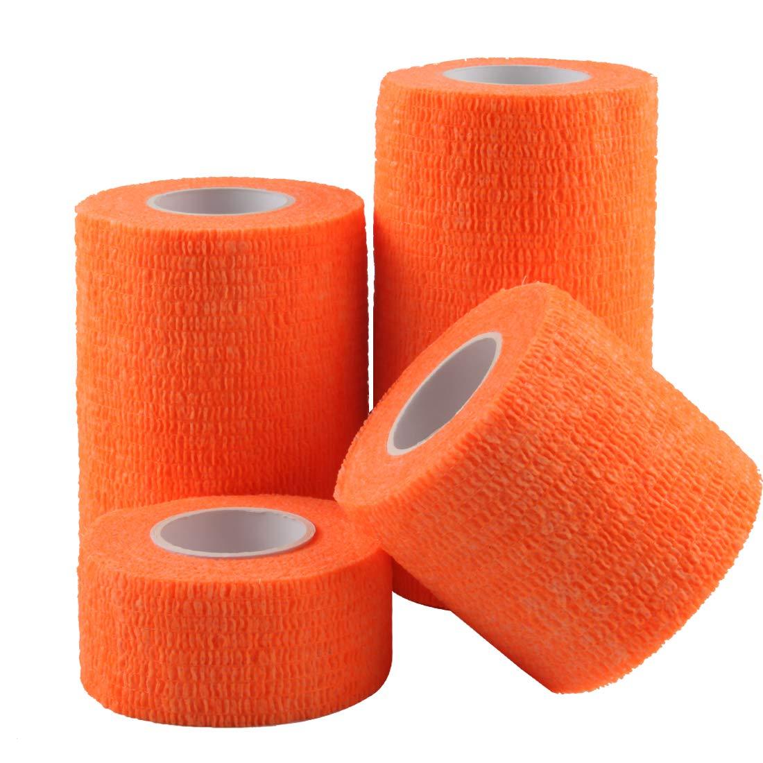 Desert Camouflage Andux Zone Self-Adhesive Bandage 4 Rolls of Different Sizes Cohesive Wrap Bandaging Tape ZZTXBD-04