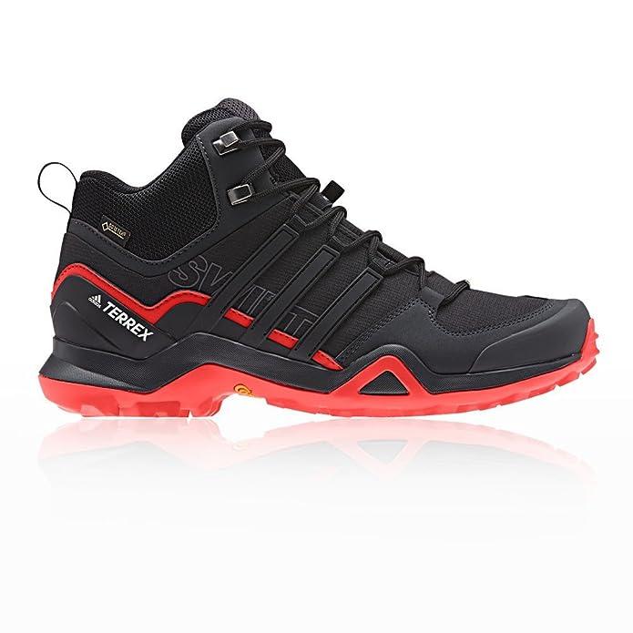 best website 1ddb8 ef12e adidas Men s Terrex Swift R2 Mid GTX High Rise Hiking Shoes, Black   Amazon.co.uk  Shoes   Bags