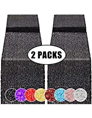 2 Pack 12 x 108 inches Sequin Table Runner for Birthday Wedding Bridal Shower Baby Shower Bachelorette Holiday Celebration Party Decorations Tables Supplies
