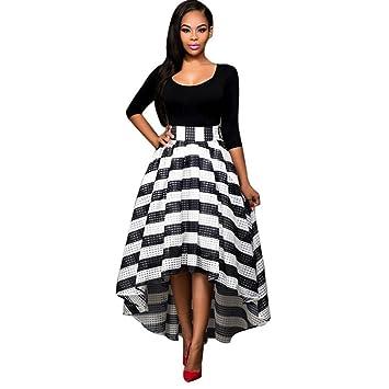 Wawer Mujer Ropa Vestido para Vestido de Noche Fiesta Vestido de Las Mujeres, Color Negro