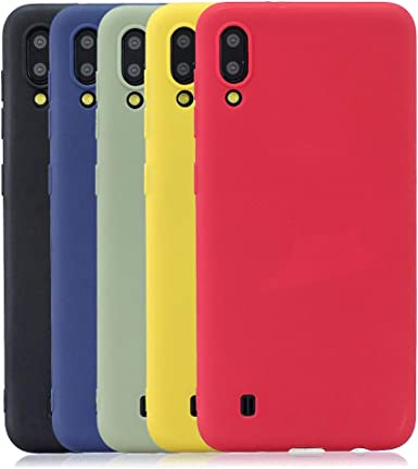 Rongecr 5x Color Puro Funda para Samsung Galaxy M10, Carcasa ...