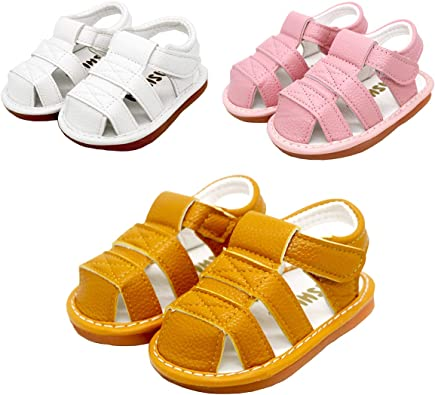 LUWU Squeaky Shoes Leather Sandals