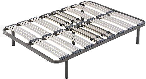 HOGAR24 Somier multiláminas con reguladores lumbares (5 Patas Incluidas)-Altura de Las Patas 32cm- 150x190cm