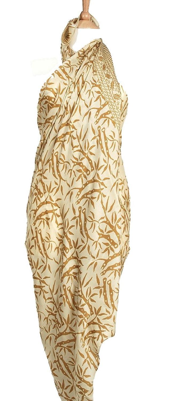 Reine Seide Batik Golden Coral Sarong/Wrap
