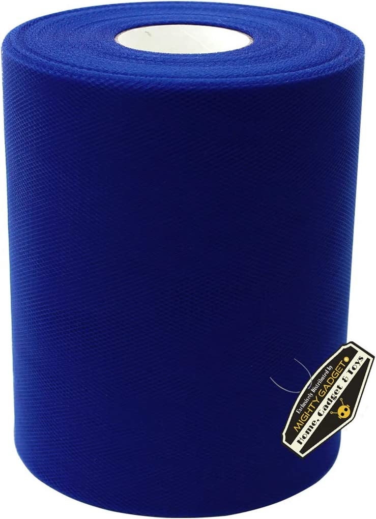 Mighty Gadget Brand Large Tulle Fabric Spool 6 inch x 100 Yards 300 feet for Wedding and Decoration Royal Blue