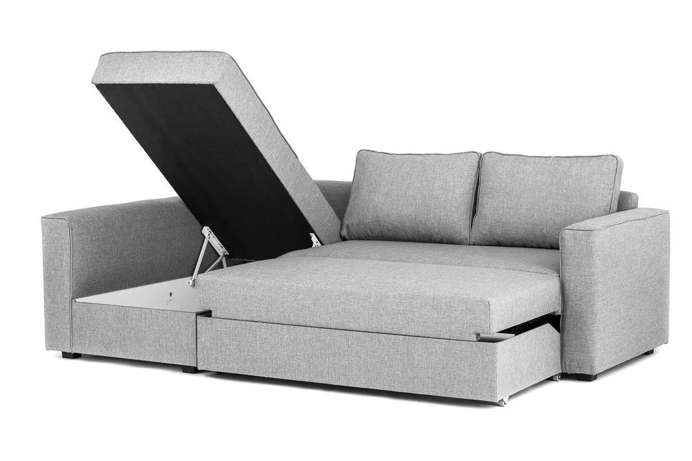 Boston Corner Sofa Bed With Storage In Grey   Left Hand: Amazon.co.uk:  Kitchen U0026 Home