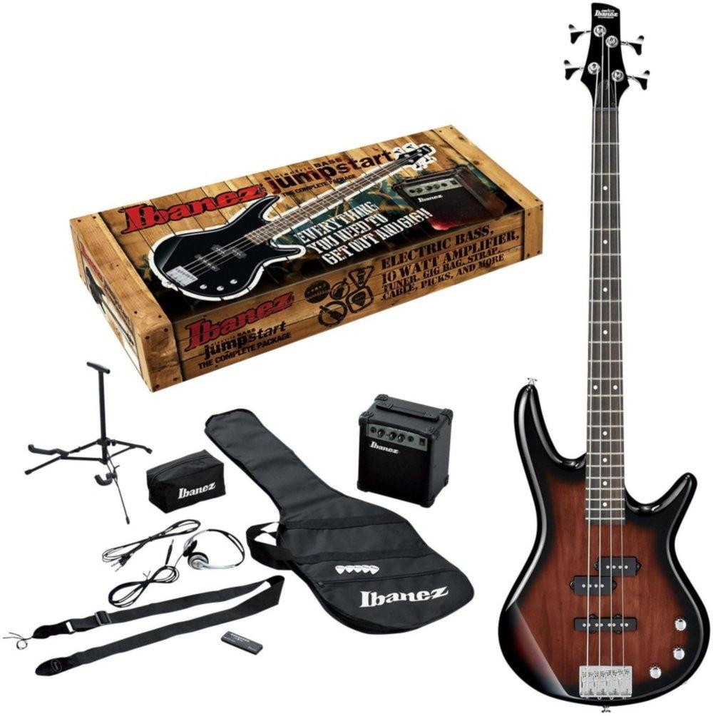 Ibanez IJXB150B Jumpstart Bass Package Walnut Sunburst