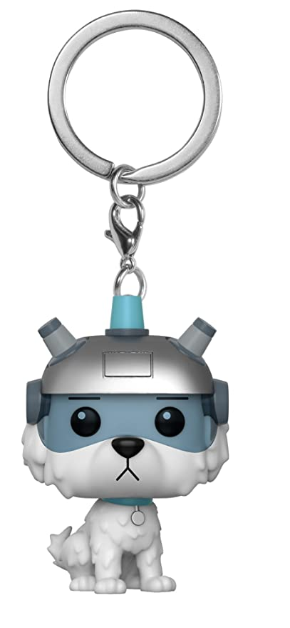 Funko Pocket Pop! Keychain: Rick and Morty - Snowball Llavero Funda (Llavero,, Vinilo, Figura, 1 Pieza(s))