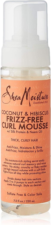 SheaMoisture coco y Hibiscus Frizz-Free Curl Mousse - 7,5 fl oz, 220 ml