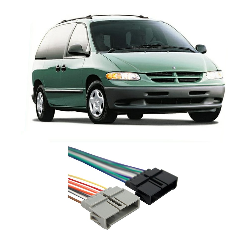 Dodge Caravan 1984 2001 Factory Stereo To Aftermarket 1993 Plymouth Sundance Wiring Harness Radio Adapter Car Electronics