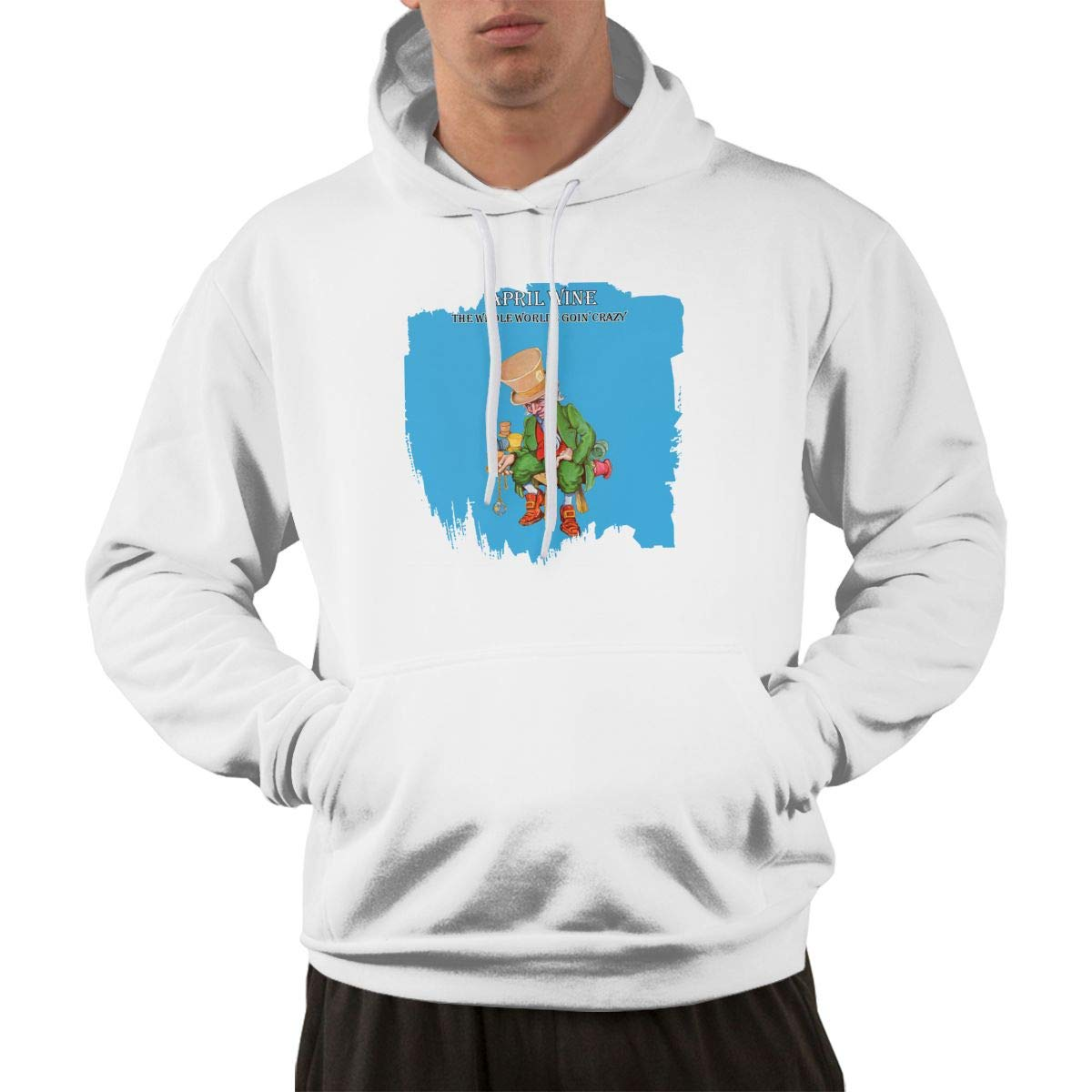 Erman Pullover Warm Print April Wine Hooded Shirts With Pocket S