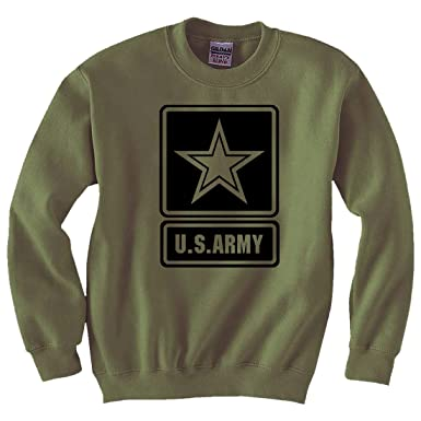 Amazon.com  US Army Star Modern Logo Crewneck Sweatshirt in Military ... a2ff21c51