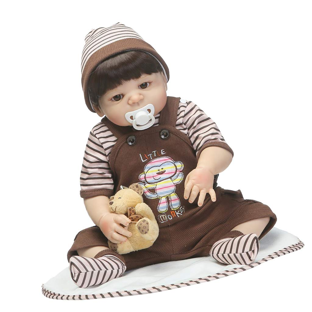 F Fityle 22 Pulgadas Muñeca Bebé Renacida con Ropa de Vestir Regalos de Cumpleaños