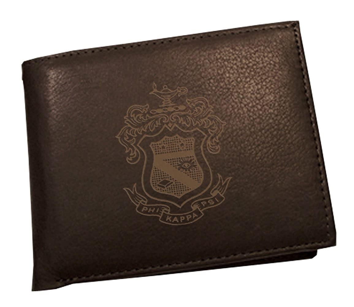 Phi Kappa Psi Leather Crest Bi-Fold Wallet