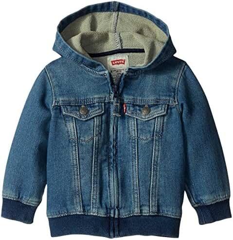 Levi's Baby Boys' Indigo Knit Denim Hoodie