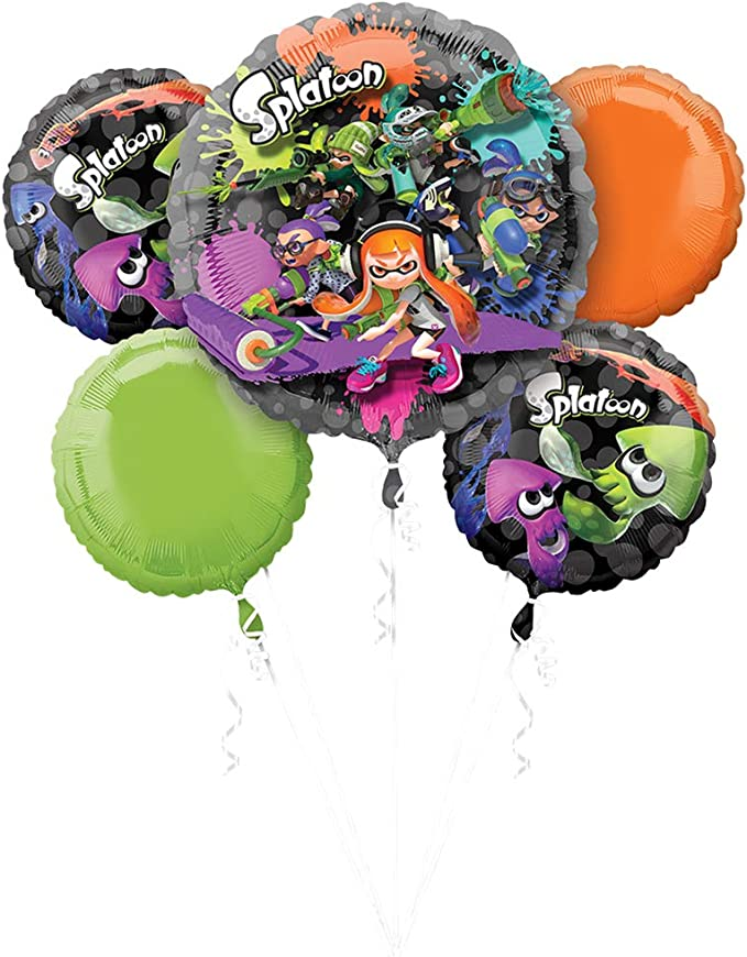 Plus Party Planni... Splatoon Birthday Party Supplies Bundle Pack for 16 Guests