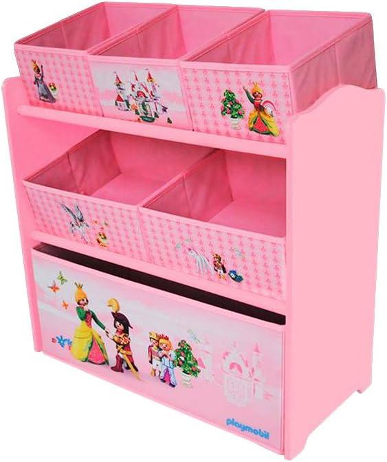 Playmobil Princess 064623 Toy storage shelves Independiente Multicolor, Rosa caja de juguete y de almacenamiento - cajas de juguetes y de almacenamiento (Toy storage shelves, Multicolor, Rosa, Independiente, Imagen, Cartón, MDF, Princess):