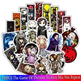 The Game of Thrones Stickers [100 PCS] Waterproof Vinyl Stickers, Motorcycle Bicycle Luggage Laptop Decal Graffiti Patches Skateboard Bumper Stickers, No Duplicate Sticker Pack, Not Fade in The Sun