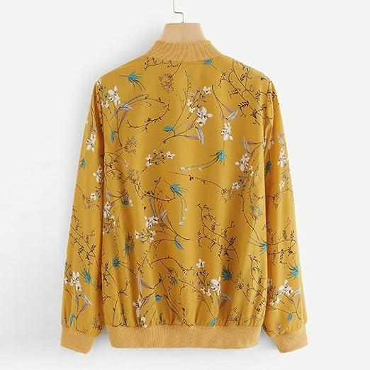YunYoud damska kurtka damska moda wiosna jesień kwiecista kurtka bomberkowa kurtka rowerowa zamek błyskawiczny kurtka pilotka kobiety długi rękaw bluza sweter kurtka outwear kurtka baseballowa płaszcz