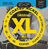 D'Addario EXP125 Coated Electric Guitar Strings, Super Light Top/Regular Bottom,...