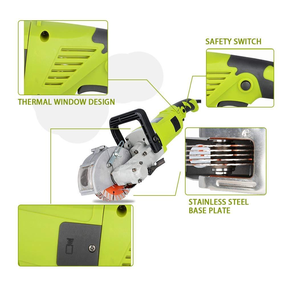 M/áquina cortadora concreta de acero de la m/áquina de la m/áquina de la ranura de la m/áquina del ranurado del ranurador del chaser de la pared 220V 4000W los 33MM Isunking