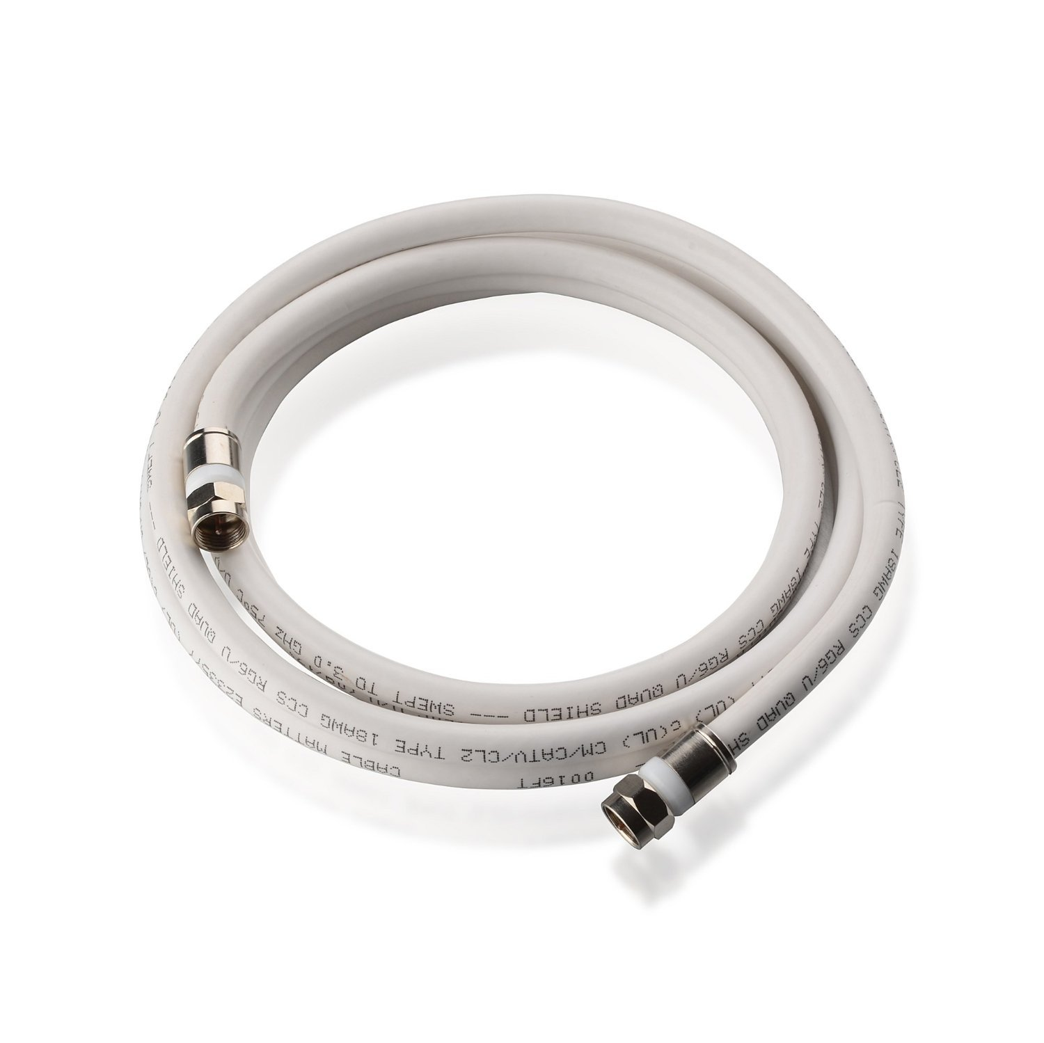 RG6 Cable, Coax Cable CM in Black 100 Feet Quad Shielded Coaxial Cable Cable Matters CL2 In-Wall Rated