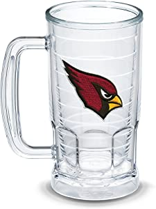 Tervis NFL Arizona Cardinals Primary Logo Insulated Tumbler with Emblem, 16oz Beer Mug, Clear