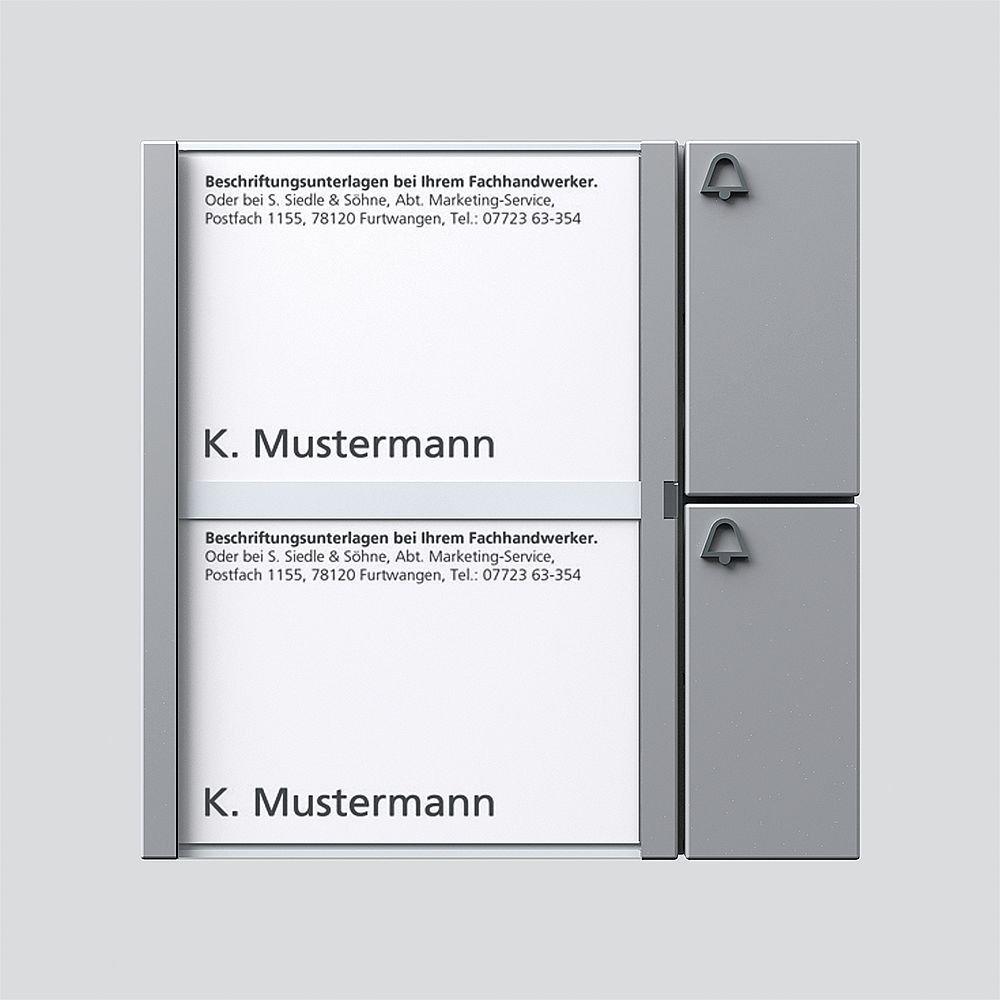 TM 612-2 SM Siedle 2544207 Tastenmodul 2 Tasten 1 mit N-System silber-metallic