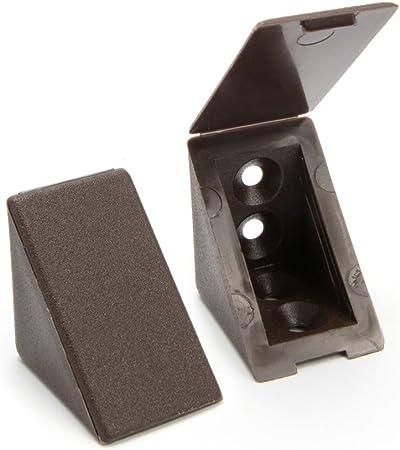 2/trous Mati/ère/: Plastique 40 x Equerre Dangle//connecteurs de meubles///Équerre /étag/ère Couleur/: Blanc Sossai/® BT1