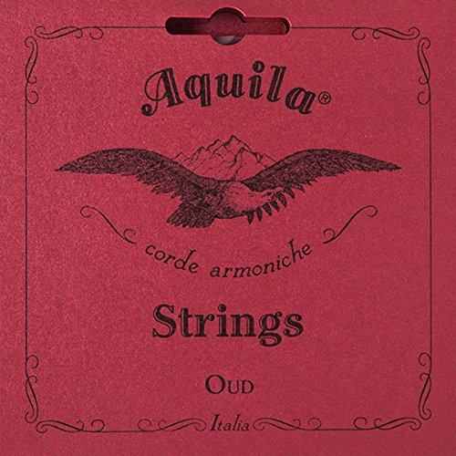 Aquila Turkish OUD Strings - 1 O Standard Tension - Red Copper and Nylgut - 11 String Set by Aquila