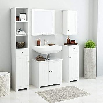 Festnight Conjunto de Muebles de Baño Blanco 5 Piezas: Amazon.es: Juguetes y juegos