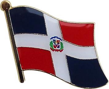 Flagline Dominican Republic ~ National Lapel Pin