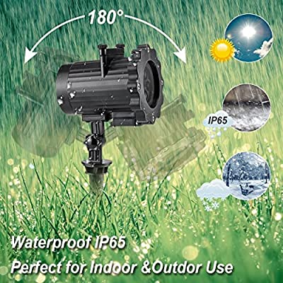 Led Projector Light 16 Slides Indoor Outdoor Thanksgiving Christmas Holiday Projector Lights for Yard Garden Home Night Light Projection Landscape Decorations