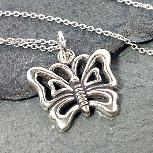 (Butterfly Necklace - 925 Sterling Silver)