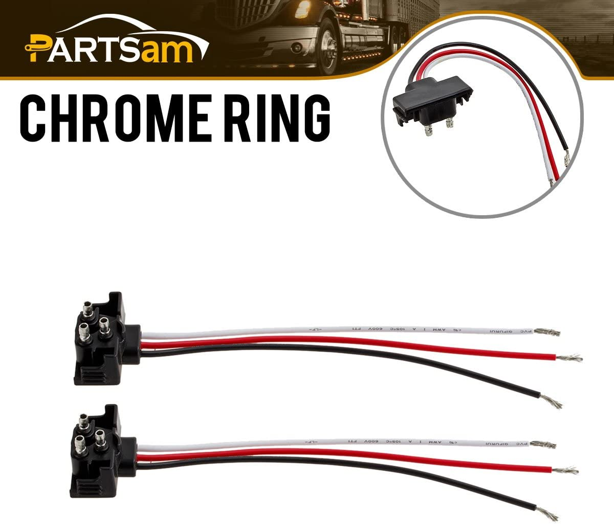 [SCHEMATICS_48IS]  Amazon.com: 3 Prong Pigtail Wire Plugs for Truck Trailer Bus Boat RV Stop  Turn Tail Lights 2pcs: Automotive   Truck Tractor Trailer Light Wiring      Amazon.com