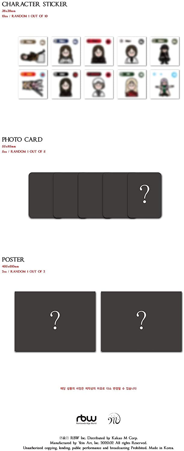 Sticker Set Mamamoo Moonbyul CD+Booklet+Photocard+Folded Poster+Others with Extra Photocards 2nd Solo Mini Album Dark Side of The Moon