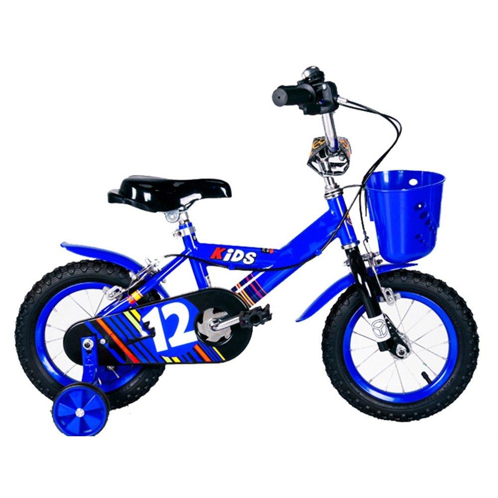 HAIZHEN マウンテンバイク 子供用自転車ベビー用ベビーカー12/14/16/inch 3-6-8-10歳少女の少年の自転車カラフルな多色 新生児 B00ZK1V5F8青 14 inch