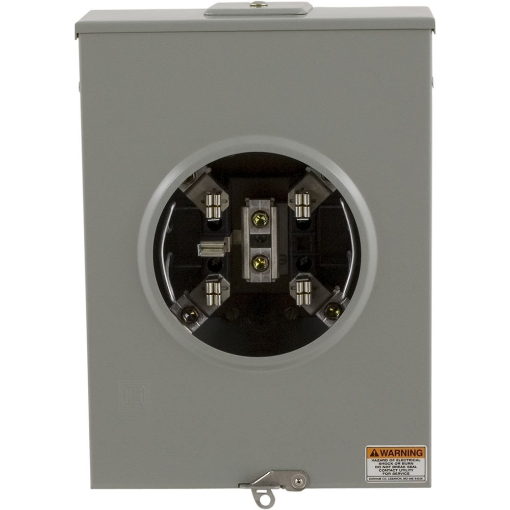 Square D by Schneider Electric UGHTRS213C 200A Ringless Horn Overhead/Underground Meter Socket With Horn Bypass