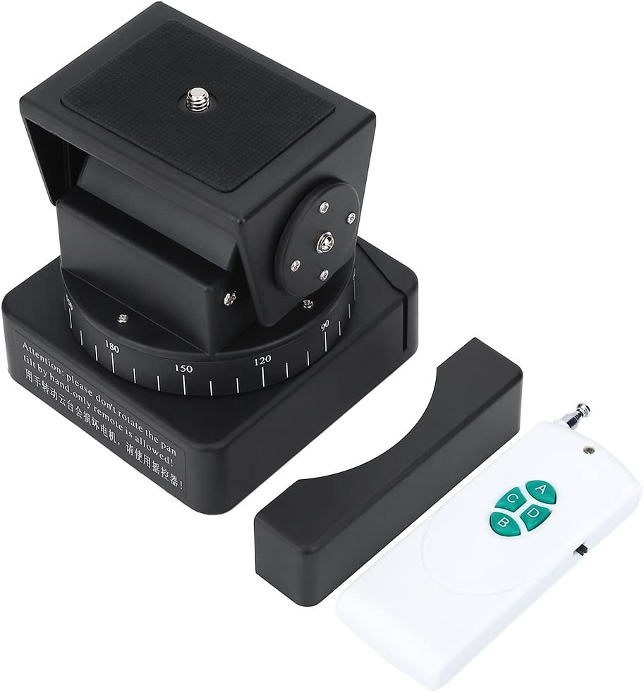 Bigking Pan Tilt Head ,Motorized Camera Pan Tilt Head with Remote Control for Gopro Cameras Smartphones