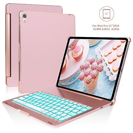 SENGBIRCH Funda con Teclado iPad Pro 11, Oro Rosa