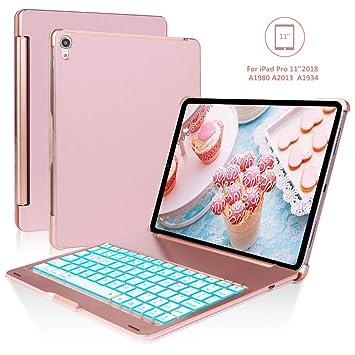 SENGBIRCH Funda con Teclado iPad Pro 11, Oro Rosa: Amazon.es: Electrónica