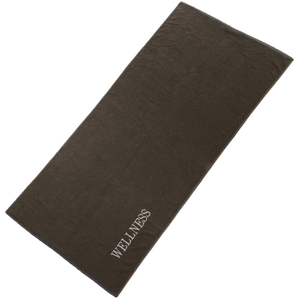 aqua-textil Wellness Saunatuch Doppelpack 80x200 Uni anthrazit grau Baumwolle Frottee Sauna Handtuch Strandtuch 2000315