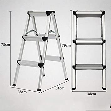 Plegables Aluminio Aleación Escalera,multiusos Antideslizante Escaleras De Mano Portátil Casa Escalera Para El Hogar Cocina Oficina Almacén-: Amazon.es: Bricolaje y herramientas